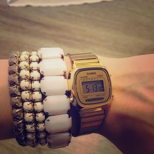 Casio Women Watch & Beautiful Zara Bracelets